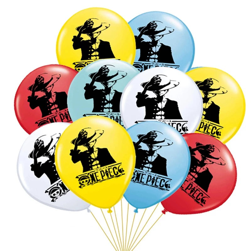 One Piece Cartoon Party Balloons, Supplies
