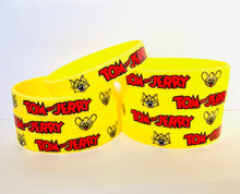 Load image into Gallery viewer, Tom and Jerry Birthday Party Favors Wristbands