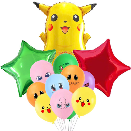Pokemon Pikachu Party Balloons, 13 Piece Set Ensemble