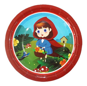 "Little Red Riding Hood 7"" Party Dessert Paper Plates, 8ct"