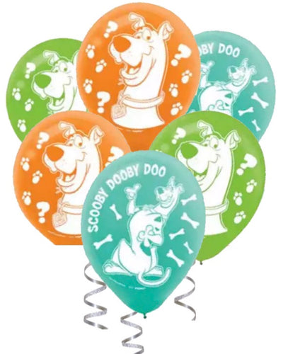 Scooby Doo Party Balloons, 6, 12 or 18ct