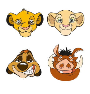 Lion King Favor Paper Masks, 8ct
