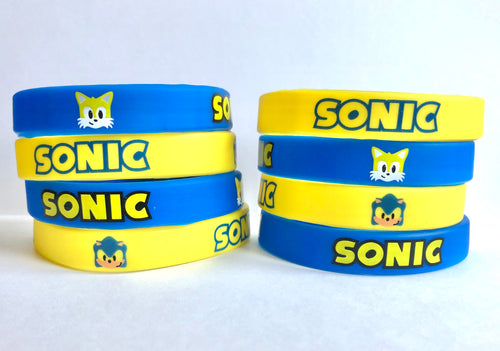 Sonic party favors wristbands