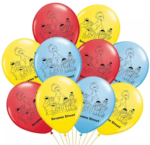 Sesame Street Birthday Party Balloons, Decorations