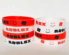 Load image into Gallery viewer, Roblox Party Favors Wristbands 8 piece, Birthday Party Supplies