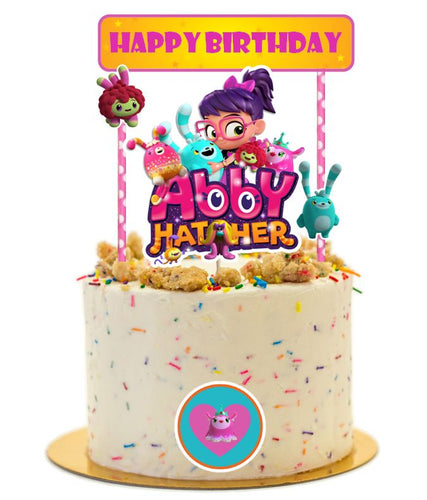 Abby Hatcher Birthday Cake Topper