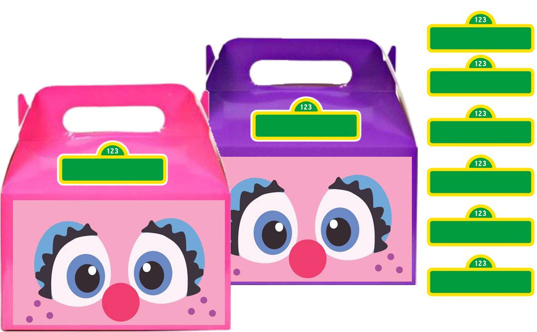 Abby Cadabby Treat Favor Boxes