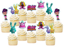 Load image into Gallery viewer, Abby Hatcher Cupcake Toppers, Handmade