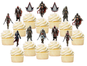 Assassins Creed Cupcake Toppers, Handmade