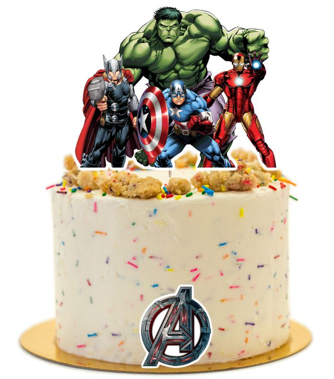 Avengers Cake Topper, party supplies