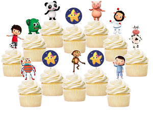 Little Baby Bum Cupcake Toppers, Handmade