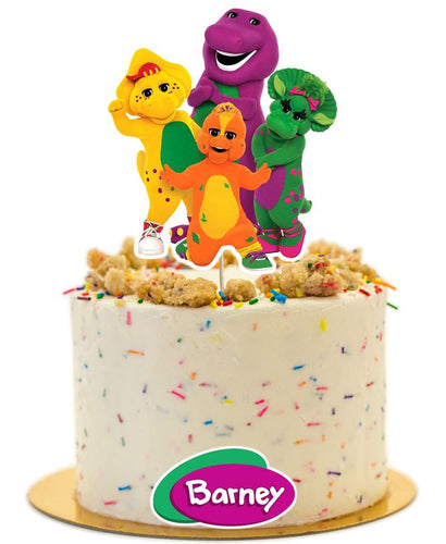 Barney Birthday party supplies, Barney cake topper