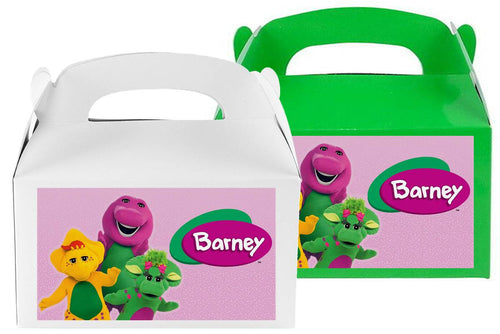 Barney Treat Favor boxes, party supplies