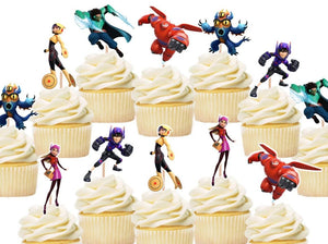 Baymax Big Hero Cupcake Toppers, Cake Decorations