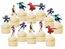 Load image into Gallery viewer, Baymax Big Hero Cupcake Toppers, Handmade