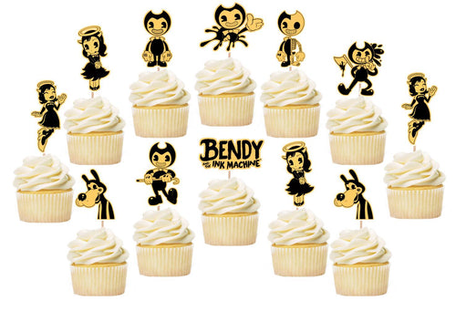 Bendy and the Ink Machine Cupcake Toppers, Handmade