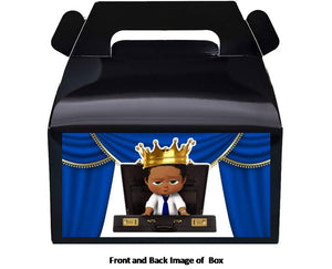Afro Boss Baby Boy Treat Favor Boxes 8ct