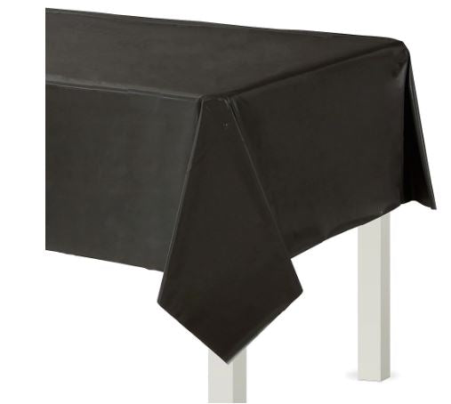 Black Plastic Rectangular Tablecover, 54x108