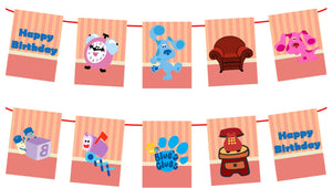 Blue Clues Happy Birthday Banner