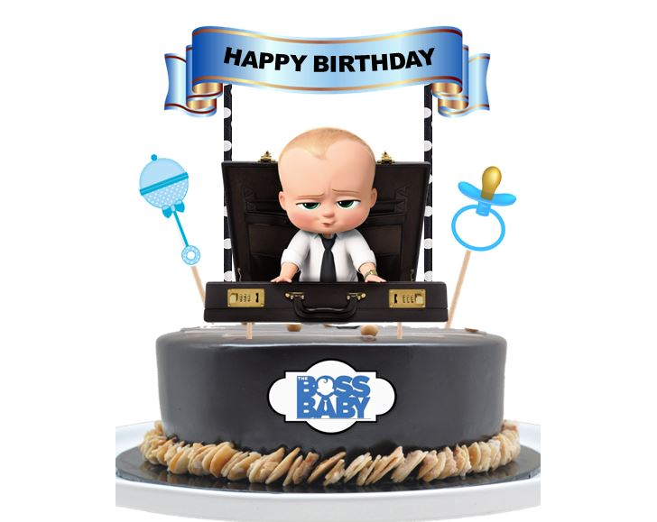 Cool Boss Baby Cake Topper Party Mania Usa Personalised Birthday Cards Xaembasilily Jamesorg
