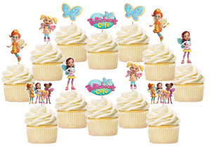 Butterbean Cafe Cupcake Toppers, Handmade