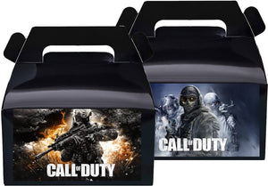 Call of Duty Treat Favor Boxes, Party Supplies