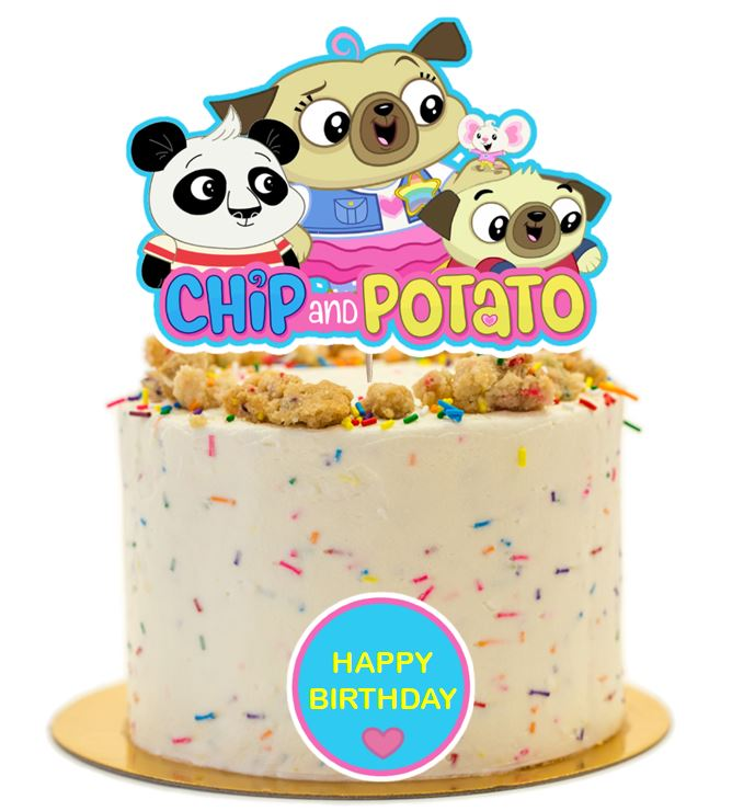 Chip and Potato Cake Topper