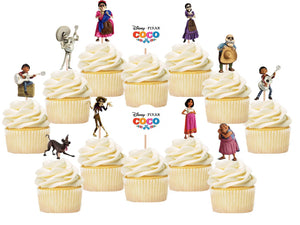 Coco Cupcake Toppers, Cake Decorations