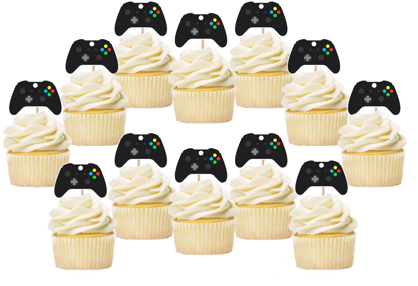 Video Game Control Cupcake Toppers, Gamer Toppers, Handmade