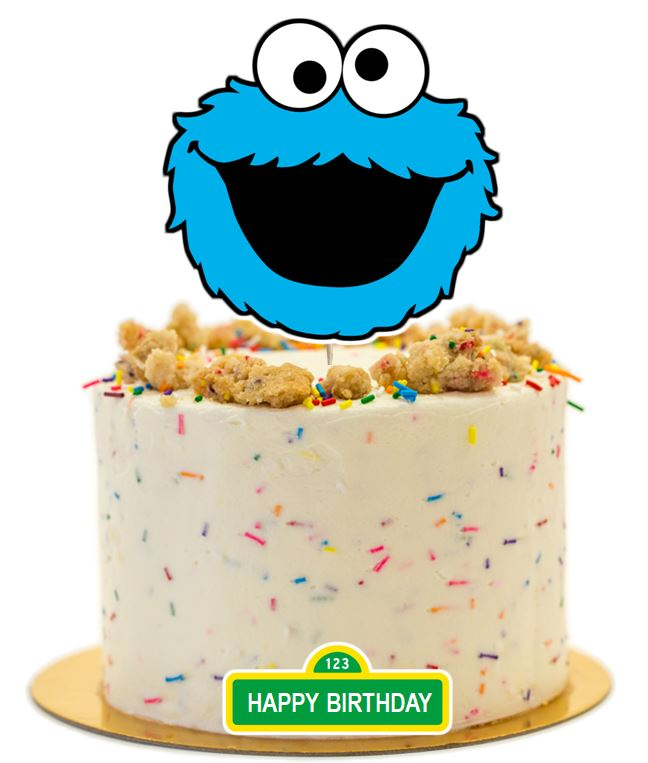 Cookie Monster Cake Topper, cake decorations
