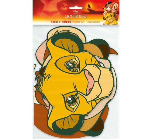 Lion king birthday party supplies, lion king party favors, masks