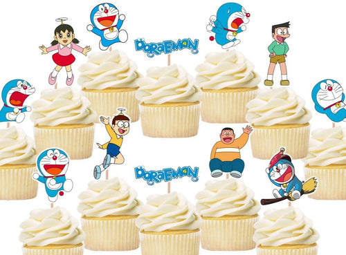 Doraemon Cupcake Toppers, Cake Decorations