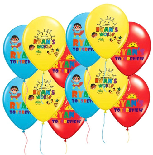 Ryans world balloons, party supplies