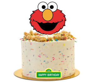 Sesame Street Elmo Cake Topper, Cake decorations