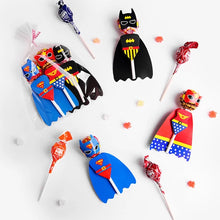 Load image into Gallery viewer, Superhero Lollipop Covers, Favors