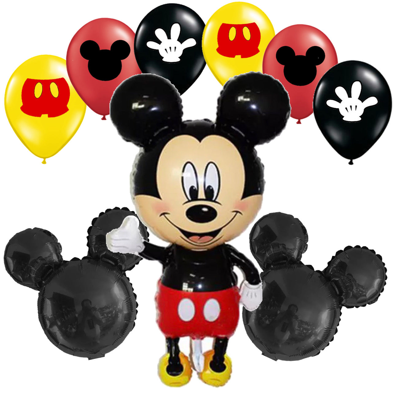 Mickey Mouse Birthday Balloons Set