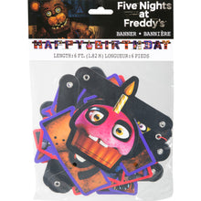 Load image into Gallery viewer, Five Nights at Freddy's Birthday Banner