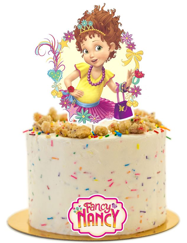 Fancy Nancy Cake topper, decorations
