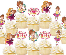 Load image into Gallery viewer, Fancy Nancy Cupcake Toppers, cake decorations