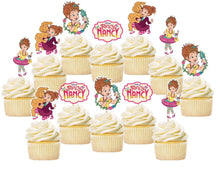 Load image into Gallery viewer, Fancy Nancy Cupcake Toppers, Handmade
