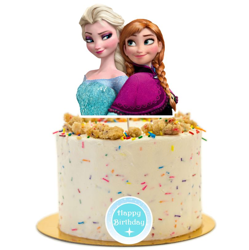 Frozen birthday party supplies cake topper