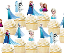 Load image into Gallery viewer, Frozen Cupcake Toppers, Handmade