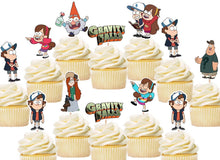Load image into Gallery viewer, Gravity Falls Cupcake Toppers, Handmade