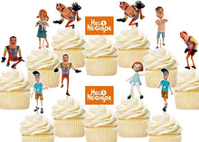 Load image into Gallery viewer, Hello Neighbor Cupcake Toppers, Handmade