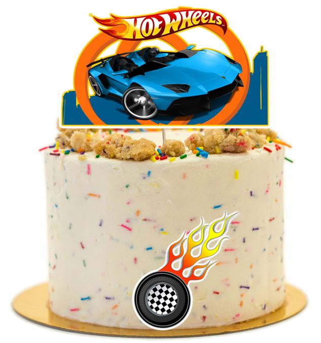 Hot Wheel Cake Topper, Cake Decorations