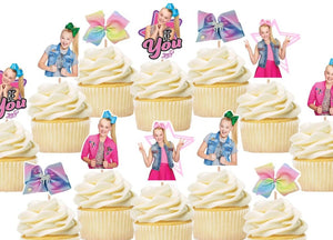 Jojo Siwa Cupcake Toppers, Party Supplies