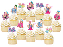 Load image into Gallery viewer, Jojo Siwa Cupcake Toppers, Jojo Siwa Cake Decorations, Handmade