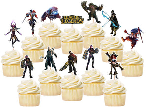 League of Legends Cupcake Toppers, Handmade