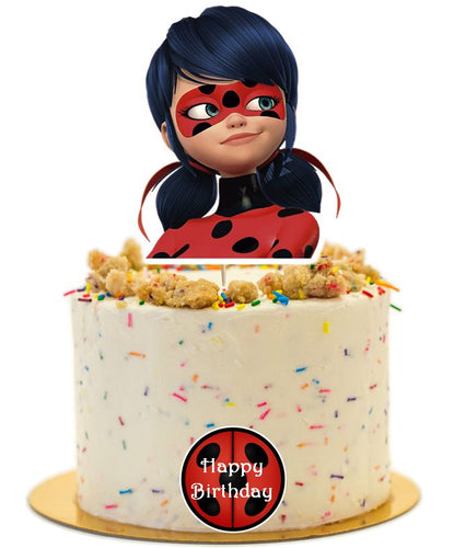 Miraculous Cake Topper, Miraculous Ladybug Cake Topper, Handmade