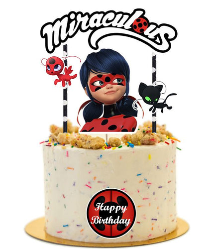 Miraculous Birthday Cake Topper